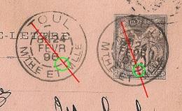 Carte Lettre SAGE 25c, DAGUIN TOUL Meurthe Et Moselle Pour MARLENHEIM Alsace. - Postmark Collection (Covers)