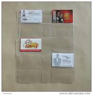 50 Feuilles Transparantes 10 Cases (format A4) Pour Telecartes - Télécartes