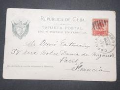 CUBA - Oblitération De Cardenas Sur Carte Postale De La Havanne Pour La France En 1903  - L 9494 - Briefe U. Dokumente