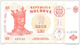 2013. Moldova, 10 Leu 2013, P-10, UNC - Moldavie