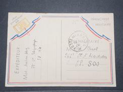 FRANCE - Carte FM Job  ( D 'un Télégraphiste ) Pour SP 800 ( Cie Aérostation ) En 1940 - L 9502 - Marcofilia (sobres)