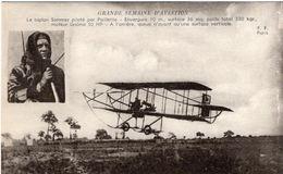 Grande Semaine D'Aviation  -  Le Biplan Sommer Piloté Par Paillette   -  CPA - ....-1914: Vorläufer