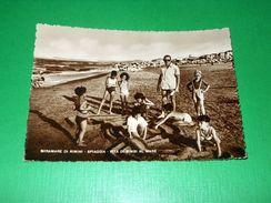 Cartolina Miramare Di Rimini - Spiaggia - Vita Di Bimbi Al Mare 1950 Ca - Rimini