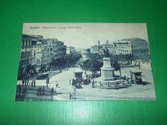 Cartolina Cagliari - Monumento E Largo Carlo Felice 1920 Ca - Cagliari