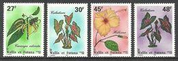 WALLIS FUTUNA 1996 FLOWERS HIBISCUS CANAGA CALADIUM SET MNH - Unused Stamps
