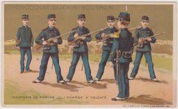Chromo Guerin-boutron Infanterie De Marine  Charge A Volonte - Guerin Boutron