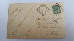 1371 B - 1911 CARTOLINA ILLUSTRATA DA FORTE DEI MARMI A PISA - Storia Postale