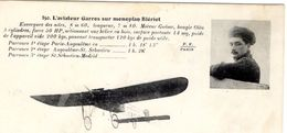 L'Aviateur Garros Sur Monoplan Blériot   - CPA - ....-1914: Vorläufer