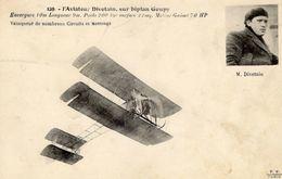 L'Aviateur Divetain Sur Biplan Goupy   - CPA - ....-1914: Précurseurs