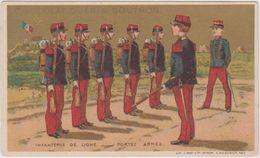 Chromo Guerin-boutron  Infanterie De Ligne Portez Armes - Guerin Boutron