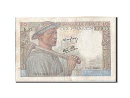 France, 10 Francs, 10 F 1941-1949 ''Mineur'', 1943, 1943-09-09, KM:99d, TB, F... - 1871-1952 Circulated During XXth