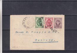 Russie - Lettre De 1898 - Entier Postal - Oblit Riga - Exp Vers Hamburg - Briefe U. Dokumente