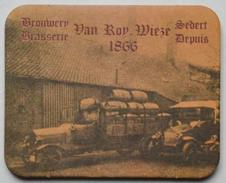 Sous-bock Brouwerij Brasserie VAN ROY WIEZE Sedert Depuis 1866 (camion, Tonneaux, Voiture) Bierviltje Coaster (CX) - Sous-bocks