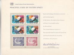 Nations Unies - New York - Carte Souvenir De 1975 - Espace - - Lettres & Documents