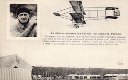 Le Célèbre Aviateur Martinet Sur Biplan Farman  - CPA - ....-1914: Vorläufer