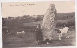 26285 BRASPARTS Menhir Roquimarc'h -Ed Joncour N° 318 - Brasparts - Vache Bretonne Mouton Fileuse Laine - Autres Communes