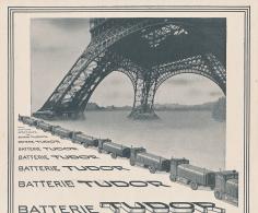 Ancienne Publicite (1941) : Batterie TUDOR, Camions, Véhicules électriques (2 Scans) - Advertising