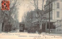 66 - Perpignan - Avenue De La Gare (café, Tramway, Enfants) - Perpignan