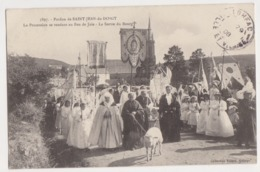 26289 Pardon Saint Jean Doigt - Procession Rendant Feu Joie Sortie Bourg -Ed Villard 5897 -mouton - Saint-Jean-du-Doigt