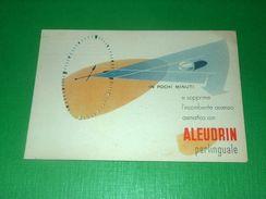 Cartolina Pubblicità Farmaceutica ALEUDRIN ( Manetti-Roberts Firenze ) 1950 Ca - Pubblicitari