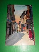 Cartolina Domodossola - Via Briona 1920 Ca - Verbania
