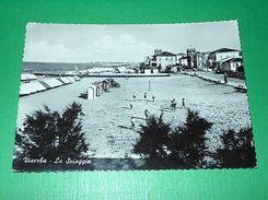 Cartolina Viserba - La Spiaggia 1957 - Rimini