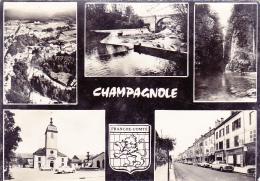 Champagnole - Multivue 5 Vues Et Blason - Circulé 1968, Flamme Illustrée De Saint Claude - Champagnole