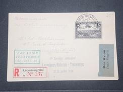LUXEMBOURG - Enveloppe De L'Exposition Philatélique Par Avion En Recommandé En 1934 Pour Bruxelles - L 9515 - Luxembourg