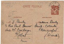 Maroc Morocco Entier IRIS Rabat 1/8/41 Lettre Cover Stationary - Morocco (1891-1956)