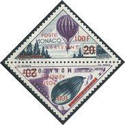 Monaco - 1956 -  Timbres Taxe Surchargés - PA 61/62  - Neufs  ** - Air Mail - MNH - Posta Aerea