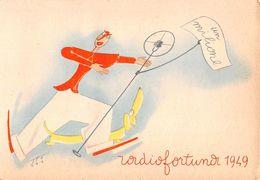 """D6077 """"RADIOFORTUNA 1949 - IL SIGNOR BONAVENTURA - RAI RADIO ITALIANA"""" CART. PUBBL.NON SPED. - Cartoline"""