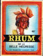 ETIQUETTE RHUM DE LA BELLE NEGRESSE (scannée Recto-verso) - Rhum