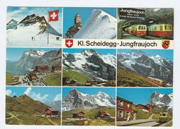 1985 JUNGFRAUJOCH RAILWAY TRAIN Mountain Railway Switzerland Postcard Stamps Cover - Trains