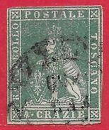 Toscane N°14 4c Vert 1857 O - Toscana