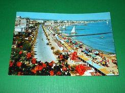 Cartolina Cattolica - Lungomare E Spiaggia 1961 - Rimini