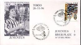 23184 Italia, Special Cover And Postmark 1996 Torino,  Juventus,, Italian Intercontinental,juventus River Plate - Club Mitici