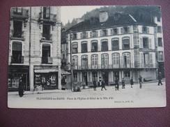 CPA  88 PLOMBIERES LES BAINS Place De L'Eglise Et Hotel De La Tete D'Or  ANIMATION & GALERIES REUNIES DE L'EST - Plombieres Les Bains