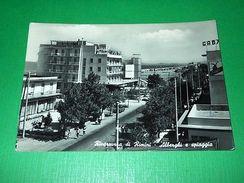 Cartolina Rivazzurra Di Rimini - Alberghi E Spiaggia 1961 - Rimini