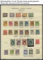 SAMMLUNGEN, LOTS O,* , Reichhaltige Restpartie Von 1898-1941 Mit Noch Einigen Mittleren Werten, Besichtigen! - Netherlands