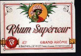 ETIQUETTE RHUM SUPERIEUR (scannée Recto-verso) - Rhum