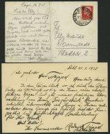 ITALIEN 308 BRIEF, 1938, Eigenhändige Expeditionskarte Von Hanns Trippel Vom Versuch Für Den VW-Schwimmwagen D - Italy