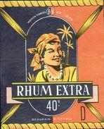 ETIQUETTE RHUM EXTRA (scannée Recto-verso) - Rhum