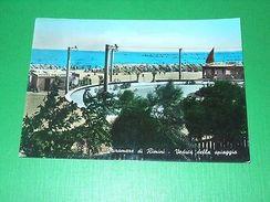Cartolina Miramare Di Rimini - Veduta Della Spiaggia 1955 Ca - Rimini