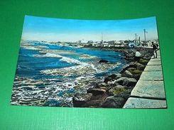 Cartolina Rimini - La Spiaggia Dal Molo 1958 - Rimini