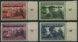 MEMELGEBIET I-IV/II **, 1939, Memelland, Type II, Prachtsatz Mit Rechtem Rand, Mi. 120.- - Klaipeda