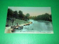 Cartolina Paris - Bois De Boulogne - Le Lac L' Embarcadère 1908 - Cartoline