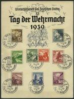Dt. Reich 675-83 BrfStk, 1938, Ostmarklandschaften Auf Gedenkblatt Mit Sonderstempel BERLIN TAG DER WEHRMACHT, Pracht - Germany