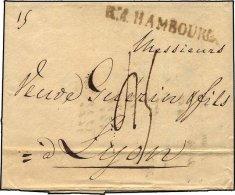 HAMBURG 1811, R.4. HAMBOURG, L1 Auf Brief Nach Lyon, Pracht - Thurn And Taxis