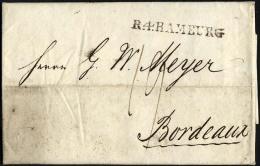 HAMBURG VORPHILA 1805, R.4. HAMBURG, L1 Auf Brief Nach Bordeaux, Feinst - Thurn And Taxis