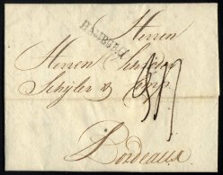 HAMBURG 3 BRIEF, 1791, HAMBURG, L1 Auf Brief Nach Bordeaux, Pracht - Thurn And Taxis